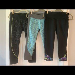 Fabletics crop leggings bundle of 3 size small